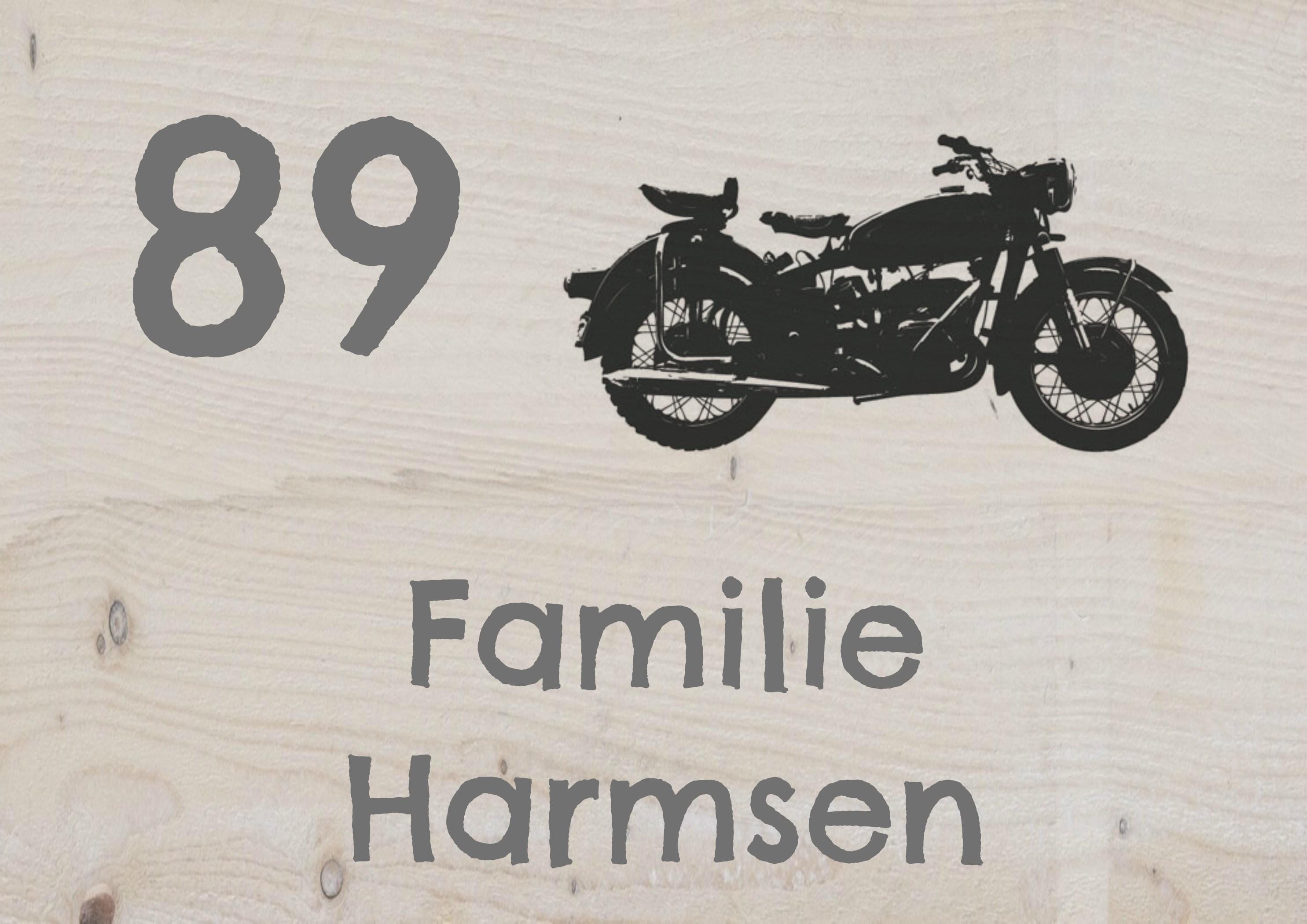 Naambord steigerhout buiten pu 45 blessingbox for Huisnummerbord maken