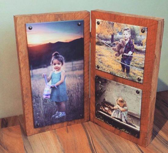 rustieke luiken - foto op hout