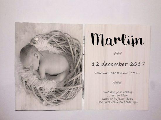 Fotoluik Geboorte - Newborn fotoluik - Geboortetekst op hout - Tekst op hout - Fotoluik van steigerhout - tweeluik