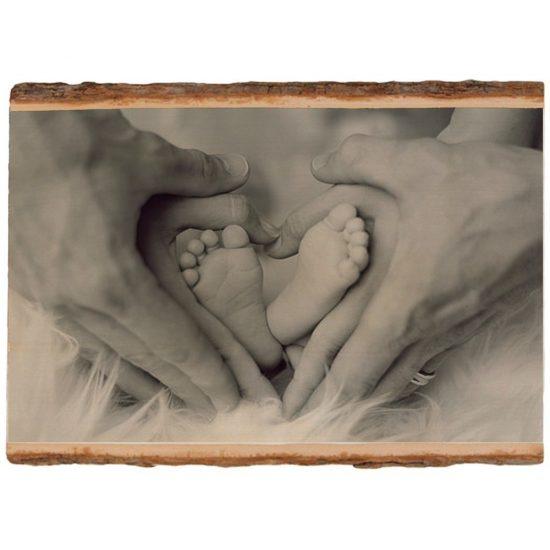 Fotoblokken van hout met schorsrand - Foto op Hout - jouw eigen foto op hout - persoonlijk fotokado