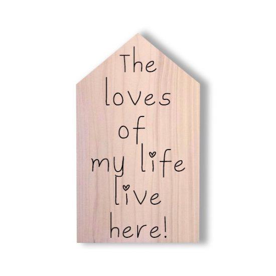 Houten huisje met tekst - Valentijnskado - liefdestekst op houten huisje - lieve tekst op houten huisje